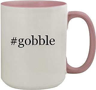 #gobble - 15oz Hashtag Colored Inner & Handle Ceramic Coffee Mug, Pink
