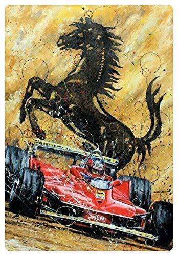Metalen bord 20x30cm paard auto racing Grand Prix grote prijs bord Tin Sign