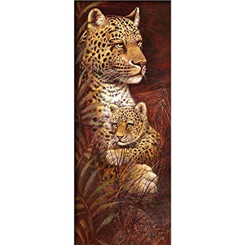 ParNarZar Groß Diamond Painting Set Leopard 5D Diamant Painting Set Full Stickerei Bilder DIY Diamonds Malerei 40x105cm