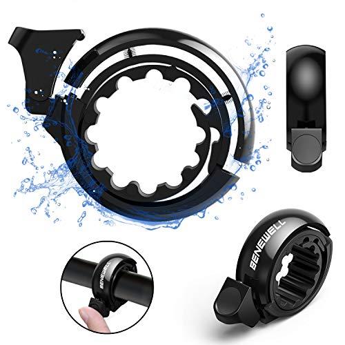 Benewell Fahrradklingel Fahrradglocke Fahrrad Ring NEU für Fahrrad Lenker Schwarz lautes und helles Klingeln