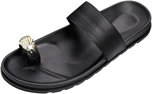 MYXUAA Mens Casual Flip Flops Thongs bequeme Sandalen Strand Outdoor Slipper Dusche Schuhe
