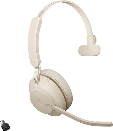 wholesale Jabra Evolve2 65 USB-C new arrival MS Mono lowest Beige Wireless Headset/Music Headphones online sale