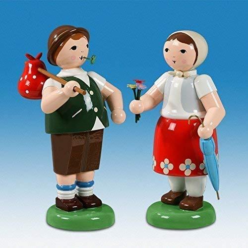 Ellmann Bauernpaar mit Proviant und Schirm h=24 cm