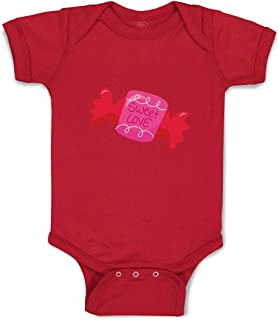 Custom Boy & Girl Baby Bodysuit Sweet Valentine Sweet Love Candy Baby Clothes