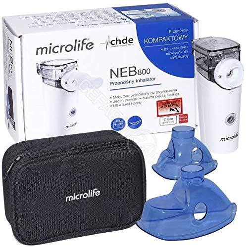 Microlife NEB800 Inhalator, tragbarer geräuscharmes Vernebler Set für Kinder und Erwachsene, wirksam bei Atemwegserkrankungen
