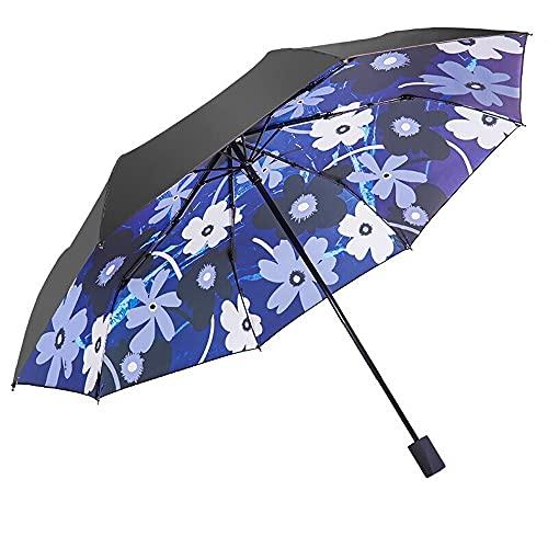 Paraguas llena de vinilo ilustración de vinilo espeluznante transparente UV Protección 8 huesos manualmente plegable soleado y lluvioso dual uso de doble protector de sol de goma negro protección UV P