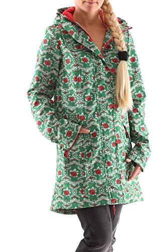 Blutsgeschwister Wild Weather Long Damen Jacke Mantel, Größe:S, Farbe:Grün (highnoon Saloon)