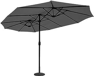Sekey® 4.6m x 2.7m Aluminium Parasol avec Deux Hauts pour Patio Jardin Balcon Piscine..