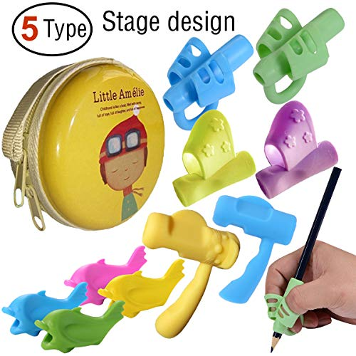 Pencil Grips, Tanbt Pencil Grips for Kids Handwriting Preschool Writing Aid Grip Training Finger Grip for Pencil Kids Toddler Beginners Kindergarten Writing Posture Correction Tools