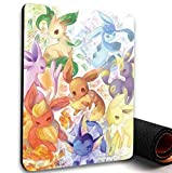 Thewart_Eight Pikachu Pokemon Eevee Evolutions Manga Anime Comic New Anti-Slip Mice Pad Mat Mouse Pad For Optical Laser Mouse