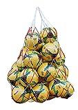 Lote de 2 Bolsas Pelotas de Malla Transporte balón Resistente de Malla Almacenamiento de Bolas Deportivas Nailon para Almacenamiento fútbol Baloncesto Voleibol Verduras Frutas Ligeras prácticas