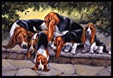 Bghnifs Caroline's Treasures BDBA0276JMAT Basset Hound Puppies, Momma and Daddy Indoor Or Outdoor Mat, 24' X 36', Multicolor 16x24(IN)