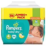 Pampers Baby Dry Couches Taille 4 (8-16 kg) - Pack 1 (x86 couches)