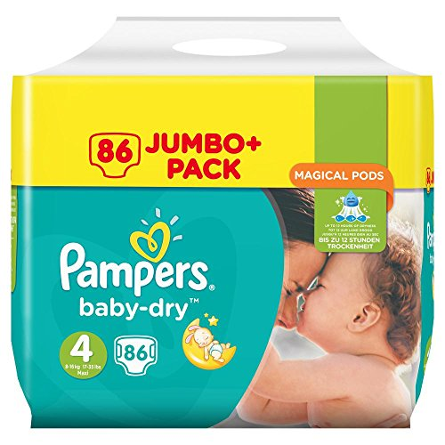 Pampers Baby Dry luiers, maat 4 (8-16 kg), per stuk verpakt (1 x 86 luiers)