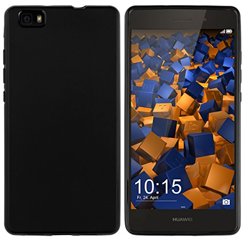 mumbi Hülle kompatibel mit Huawei P8 Lite 2015 Handy Case Handyhülle, schwarz