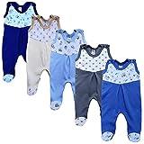 MEA BABY Unisex Strampler mit Aufdruck, Baumwolle, 5er Pack. Baby Strampler Mädchen Baby Strampler Junge (68, Jungen)