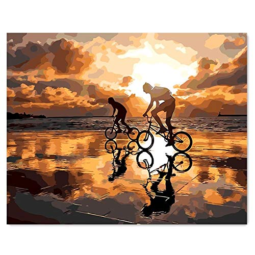 HHGHF Acrylölgemäldedigitale Füllunghandgemaltes Wandbilddigitales Malenengels Mitgefühl 40 * 50Cm-40 * 50Cm Mit Rahmen_Liebesreise