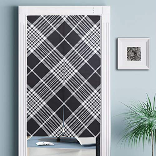 JISMUCI Vorhänge für Türen,Seamless Fabric Texture Vector mit dunklem Hintergrund,Türvorhang Für die Küche Wohnzimmer Schlafzimmer