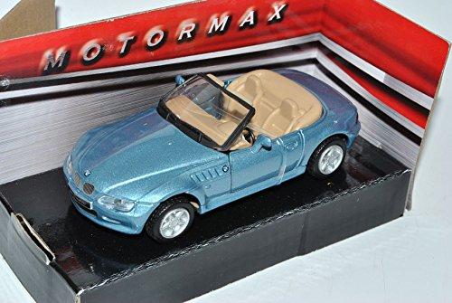 B-M-W Z3 E36/7 M Roadster Cabrio Blau Grau 1995-2002 1/43 Motormax Modell Auto