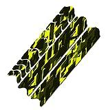 AlphaShield Lámina protectora para cuadro de bicicleta de carbono MTB BMX R161 (13 Future amarillo neón)