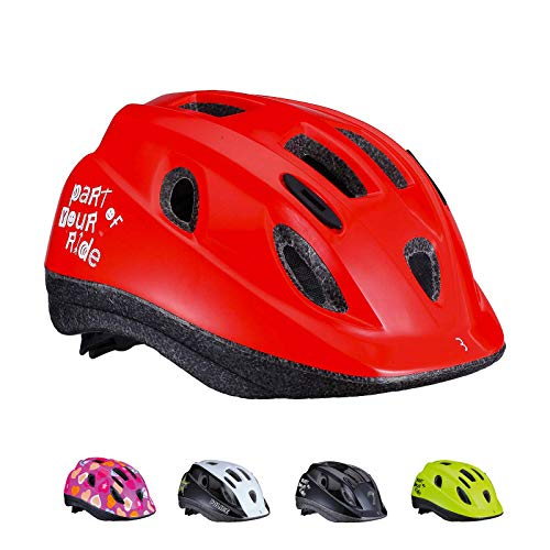 BBB Cycling Boogy-Casco Infantil para Bicicleta, Color Rojo Brillante, S (48-54 cm)