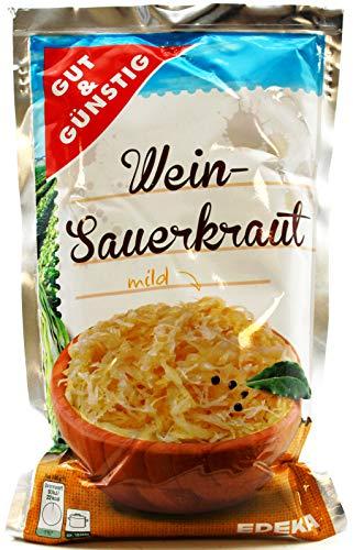 Gut und Günstig Wein-Sauerkraut mild, 10er Pack (10 x 520g)