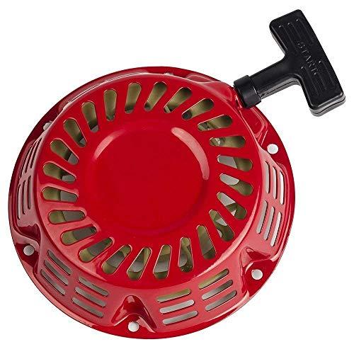 WOOSTAR Arrancador de Retroceso Reemplazo para GX120 GX160 GX200 Generator 4/5.5/6.5 HP Motor Cortacésped Rojo