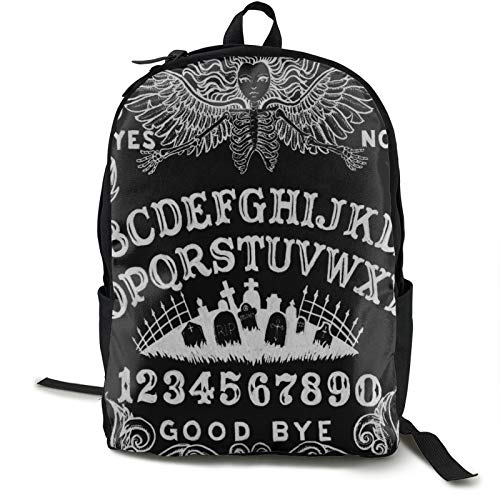 Spirit Witch Board Black Gothic Goth Occult Witchcraft Backpack Bookbag Women Men School College Students For Book, Clothes, Under 15.6 Inch Laptop Ipad