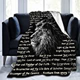 Bible Verse Soft Throw Blanket Ultra-Soft Micro Fleece Blanket for Religious Gifts for Women Men Home Living Room Decoration for Kids Adults Grandma