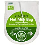 160 Micron Pro Quality Nut Milk Bag for Straining Reusable - 14'X12' fine mesh Strainer, A Perfect Substitute for Cheese Cloth Cheesecloth for Straining - Ultra Strong Fine Mesh Juice Yogurt Strainer
