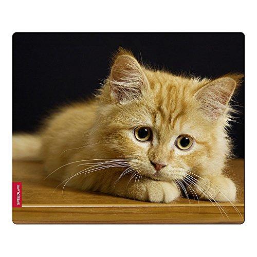Speedlink SILK Mousepad - Mauspad mit weicher Textiloberfläche, antistatischer Wirkung und idealer Gleiteigenschaft, Maße: 23 x 19 x 0,2 cm, Baby Cat
