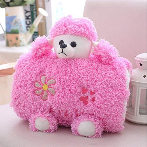 Pluche Poedel Hond Knuffel Dieren Pop, Gevulde Kussen Pop Handwarmer, Verjaardag Kerstcadeau Voor Kinderen Baby 30Cm (Roze)