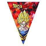 Comogiochi- Festone bandierine triangolari Dragon Ball Z, Multicolore, 5CG82013