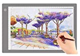 A4 Ultra-Thin Portable LED tracing Light Box Dimmable Brightness LED Art Tracing Pad for Artist Drawing Sketching Animation Stencilling and 5d Diamond Painting (Grey, A4)