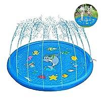 ✔ divertente Acqua Mat: Splash Pad crea un parco acquatico in miniatura in grado di portare i vostri bambini nel mondo delle fiabe e far loro godere pienamente la loro innocenza e la gioia! Con misura di bambino caratteristiche e un ampio di 170 cent...