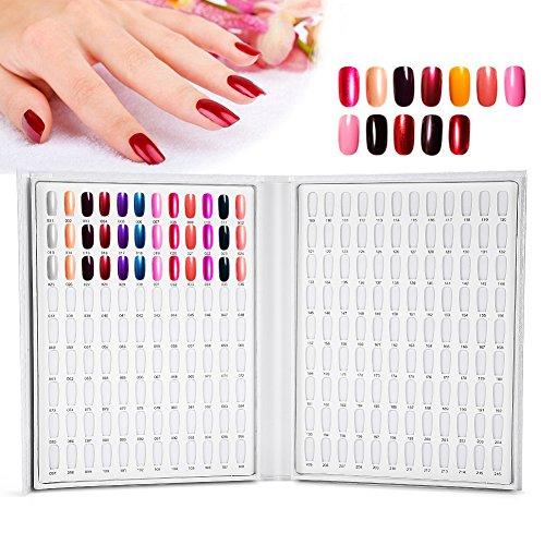 2 soorten 216 kleuren gel nagellak display chart boek voor professioneel gebruik in de nagelstudio, Nail Art Design met standaard voor planken Wit