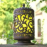 Choose this outdoor exterior column headlights to brighten any outside area, its antique lantern style and distinctive wall pillar will add a decorative element to any property. Lamp specifications: E27 (excluding light source), bulb type: incandesce...