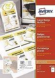 Avery 50buste Badge grande formato + 52Inserti stampabili–148x 105mm–Trasparente (4834X L)