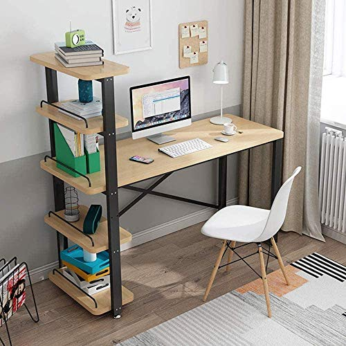 Computer Desk Wood Pc-tafel computer tafel met Shelf Modern Desk Furniture Leisure Tafel Thuis Bureau-No Chair-110cm 8bayfa