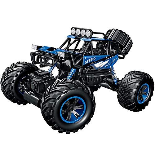 PETRLOY All Terrain RC Car 1/14 4WD Rock-Buggy Crawlers 4x4 Fahren Auto Doppel Motoren Antriebs Big Foot Auto 2.4G Fernbedienung Auto-Modell RC Geländewagen pädagogisches Spielzeug for Kinder ab 4 Jah