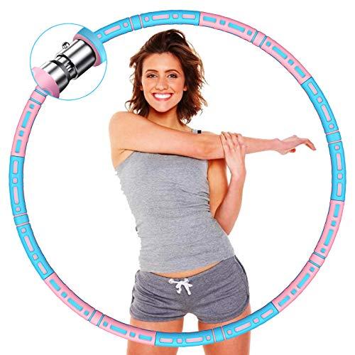 DUTISON Fitness Exercise Hoop Reifen, Gewichten Hoop für Erwachsene zur Gewichtsabnahme, Stabiler Edelstahlkern mit Premium Schaumstoff, Längeres Leben, Gewichten Einstellbar von 1,2 bis 3,2 kg
