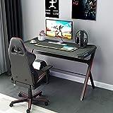 DlandHome Ergonomischer Gaming Tisch mit LED RGB, PC Schreibtisch,...