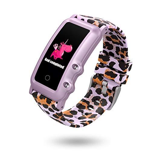 BIGCHINAMALL Reloj Inteligente Niño, Niña Pulsera Actividad Reloj Inteligente de para Deportivo Monitores Smartwatch Contador Pasos Pulsometro Deporte Relog Digitales Watch (Painted Purple)