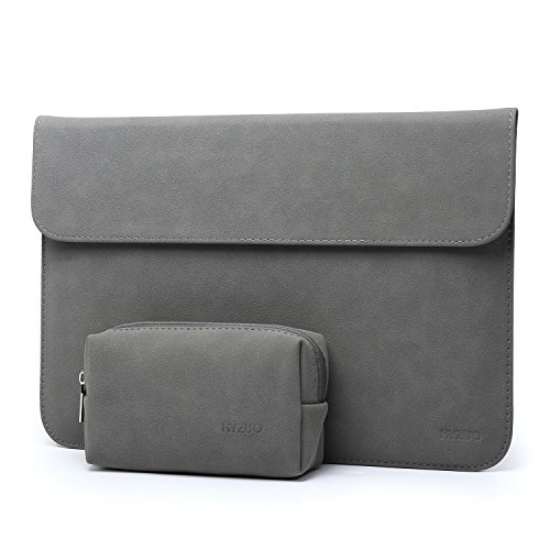 HYZUO 13 Zoll Laptop Hülle Tasche Laptophülle Kompatibel mit MacBook Air 13 M1 2018-2021/MacBook Pro 13 M1 2016-2021/iPad Pro 12,9 2018-2021 M1/Dell XPS 13/Surface Pro X 7 6 5, Dunkelgrau(Horizontale)