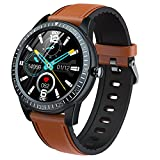 Smart Watch, Bluetooth Music Player, Llame, Y92 Pulsera Inteligente, Monitor de Ritmo cardíaco Relojes para Hombres y Mujeres, adecuados para iOS Android,A