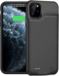 Battery Case for iPhone 11 Pro, 5200mAh Portable Protective Charging Case Compatible with iPhone 11 Pro (5.8 inch) Rechargeable Extended Battery Charger Case (Black)
