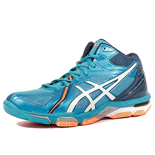 Asics Gel-Volley Elite 3 MT, Zapatillas de Voleibol Hombre, Azul (Blue Jewel/White/Hot Orange), 41.5 EU