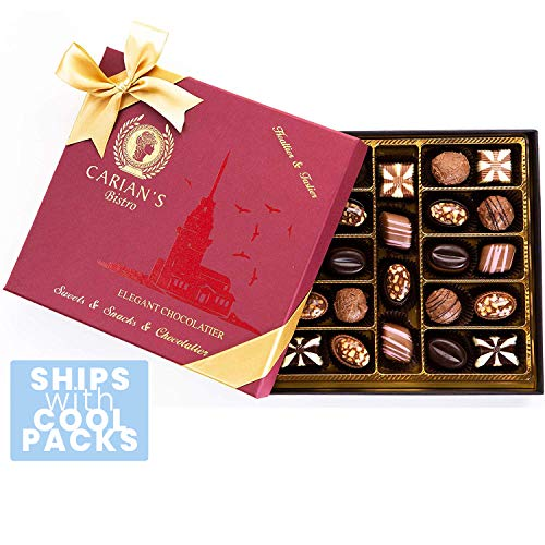 Bistro Chocolate Box Luxury Selection Premium Assorted Gift for Holiday and Christmas Gourmet TrufflesNatural and Healthy