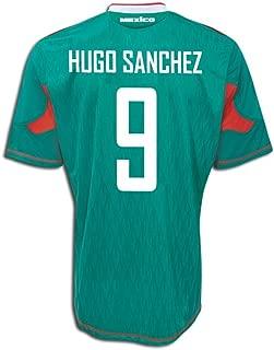 adidas Hugo Sanchez #9 Mexico Home Soccer Jersey (S) Green