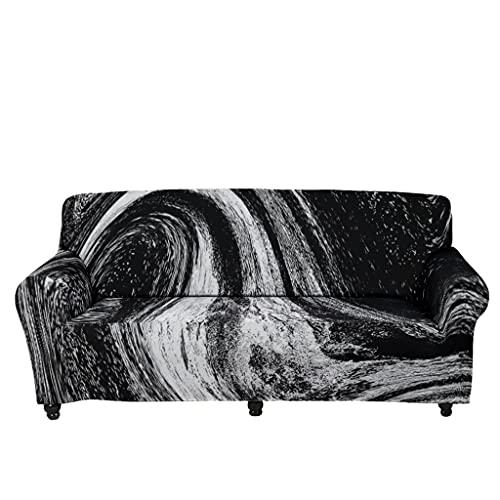 Tobgreatey Cubresofá psicodélico, mármol, decorativa, funda de sofá para niños y mascotas, con tirantes elásticos, white8 XL